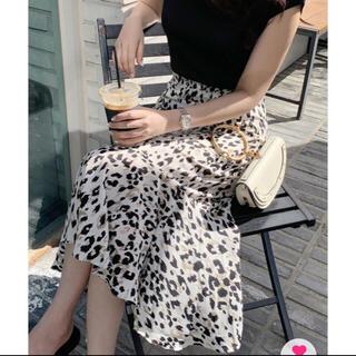 ディーホリック(dholic)のDHOLIC レオパードマーメイドスカート 新品タグ付き(ロングスカート)
