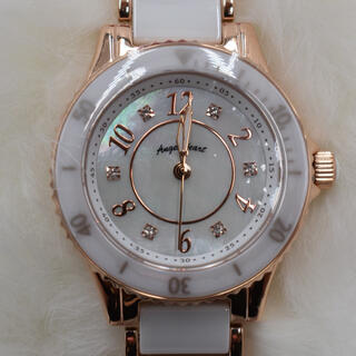 Angel Heart - エンジェルハートピンクゴールドセラミック白レディース腕時計税込25300