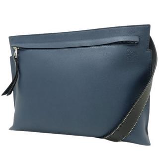 LOEWE - ロエベショルダーバッグ Tメッセンジャーバッグ カーフ ネイビー紺 ブルー青