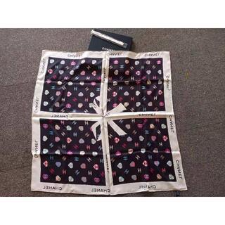 CHANEL - CHANEL シャネル スカーフ シルク ツイル CCロゴ