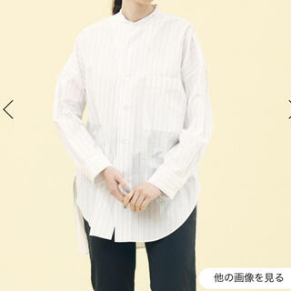 TOMORROWLAND - GALERIE VIE ギャリルビー完売バンドカラーワイドシャツ