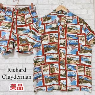 Richard Clayderman ビーチ柄 総柄 アロハシャツ セットアップ(シャツ)