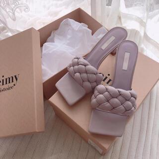 eimy istoire - スクエアープランプサンダル lavender