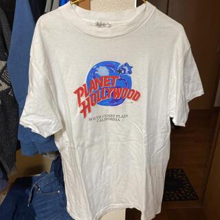 アメリヴィンテージ(Ameri VINTAGE)のPLANET HOLLYWOOD 90s 古着 USA製 プラネットハリウッド(Tシャツ/カットソー(半袖/袖なし))