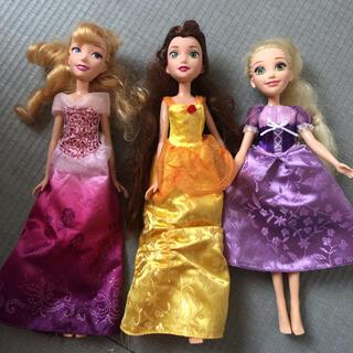 ディズニー(Disney)のディズニープリンセス 着せ替え人形 ラプンツェル ベル オーロラ姫(外出用品)