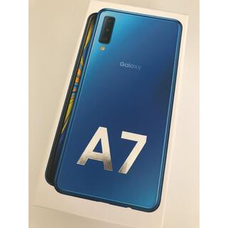 GalaxyA7 Galaxy A7  blue ブルー ギャラクシー 青
