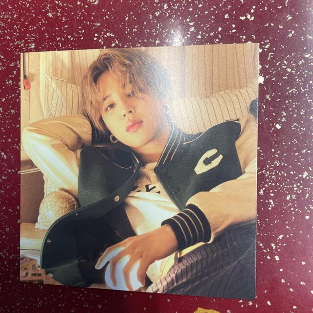 防弾少年団(BTS)(ボウダンショウネンダン)のBTS THE BEST ジミン JIMIN ポストカード 特典 エンタメ/ホビーのCD(K-POP/アジア)の商品写真