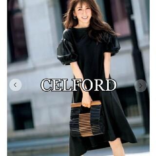 FRAY I.D - 【美品】CELFORD 美香さんコラボ ボリューム袖ワンピース サイズ36 黒