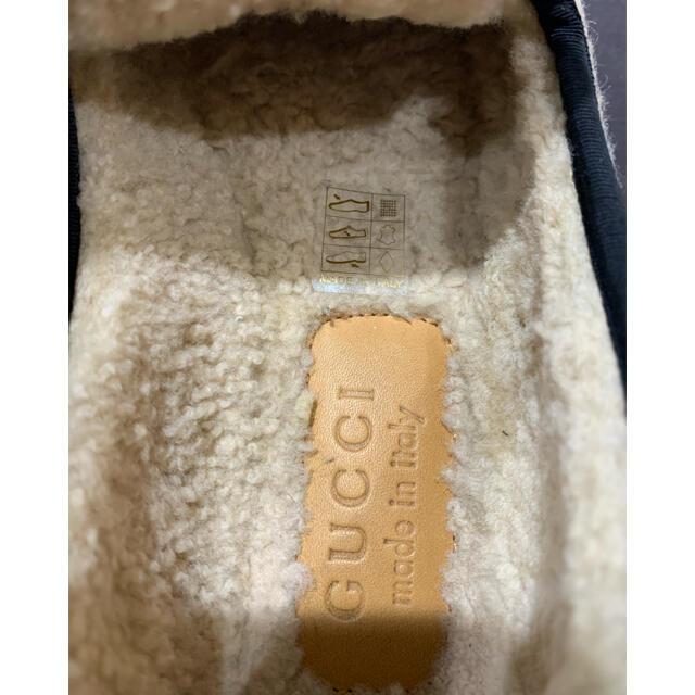Gucci(グッチ)の1回 定価10.7万 グッチ GG柄 ホースビット付き ウール ローファー メンズの靴/シューズ(スニーカー)の商品写真