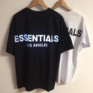 サイズL黒白二枚セット反射光りfogessentialsTシャツ