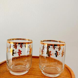 トウヨウササキガラス(東洋佐々木ガラス)の佐々木ガラス ショートグラス【金縁】2個セット(グラス/カップ)