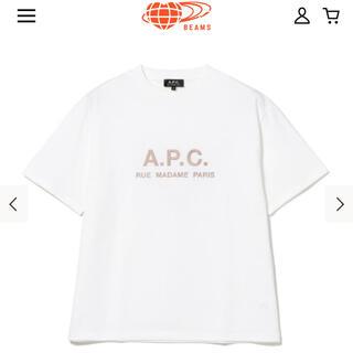 A.P.C - a.p.c.×beams lights別注ロゴクルーネックTシャツ