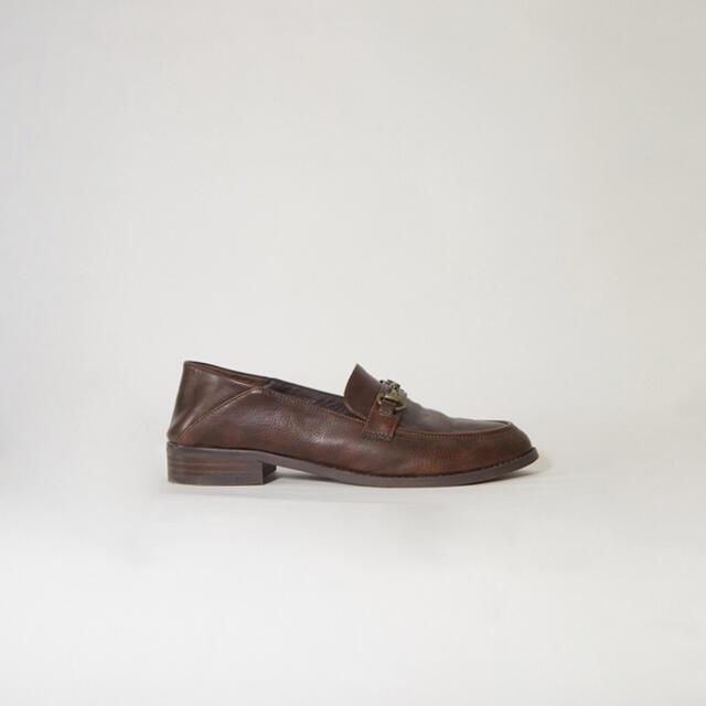 未使用新品 RANDEBOO ローファー ダークブラウン レディースの靴/シューズ(ローファー/革靴)の商品写真