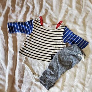 プティマイン(petit main)のプティマイン ロンパース ズボン 70サイズ(ロンパース)