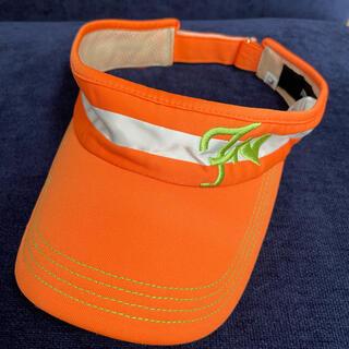フィラ(FILA)の美品 サンバイザー  フィラゴルフ オレンジ(その他)