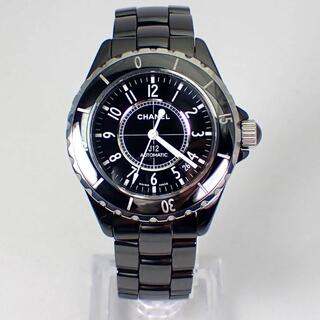 シャネル(CHANEL)のシャネル J12 ブラック 自動巻き H0685 38mm [g467-13](腕時計(アナログ))
