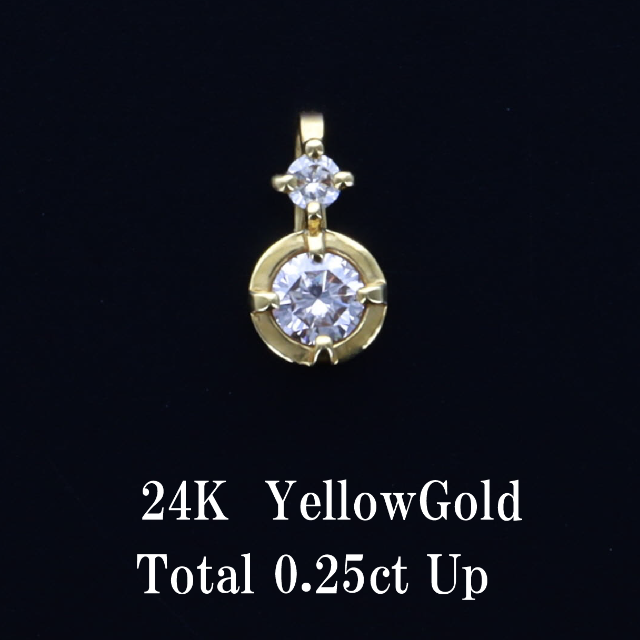 K24  一粒ネックレス レディースのアクセサリー(ネックレス)の商品写真