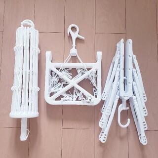 フランフラン(Francfranc)の洗濯ハンガーセット 美品 Francfranc 洗濯バサミ(日用品/生活雑貨)