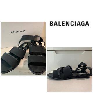 バレンシアガ(Balenciaga)のバレンシアガ ブラックレザー サンダル(サンダル)