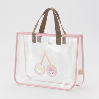 プティマイン(petit main)の人気完売品 プティマイン プールバッグ キラキラプールバッグ さくらんぼ (マリン/スイミング)