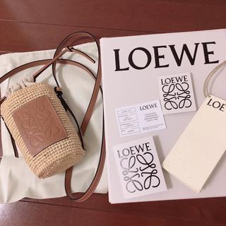 ロエベ(LOEWE)のロエベ   カゴバッグ かごバッグ ショルダー 携帯ケース(かごバッグ/ストローバッグ)