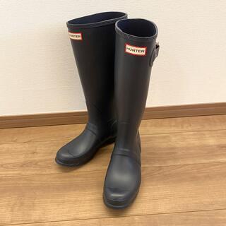 ハンター(HUNTER)のHUNTER レインブーツ 24cm ネイビー(レインブーツ/長靴)