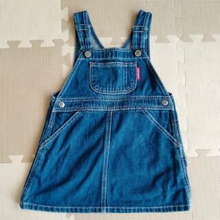 mikihouse - デニムジャンパースカート 100〜110サイズ