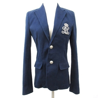 ラルフローレン(Ralph Lauren)のラルフローレン テーラード ジャケット ブレザー エンブレム 4 紺 ネイビー(その他)