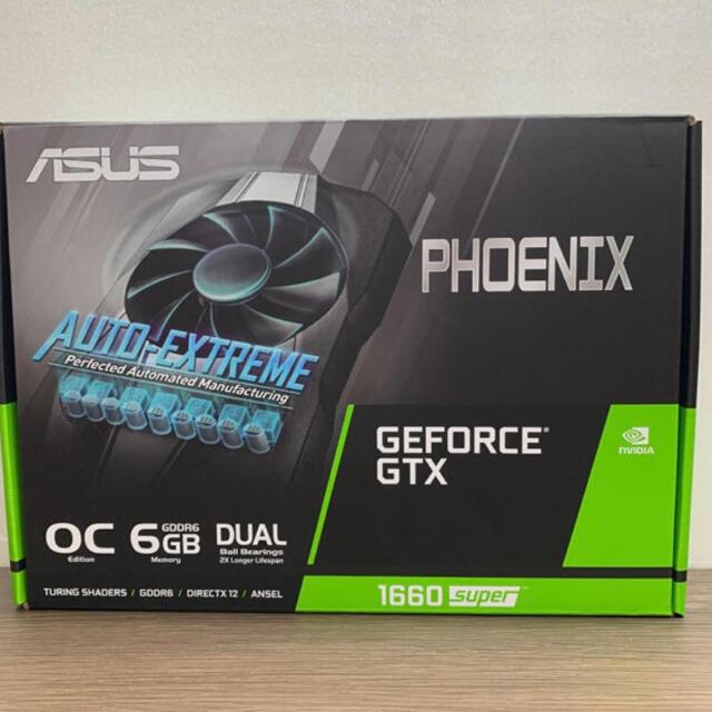 ASUS(エイスース)の【新品未開封】4台 ASUS GeForce GTX 1660 SUPER  スマホ/家電/カメラのPC/タブレット(PCパーツ)の商品写真