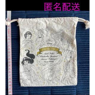 Disney - ディズニーの巾着袋(プリンセスキャラクター、オフホワイト)