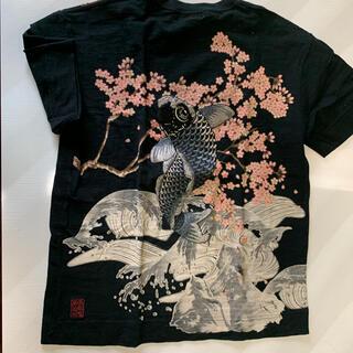 カラクリタマシイ(絡繰魂)の和柄 刺繍Tシャツ(Tシャツ/カットソー(半袖/袖なし))