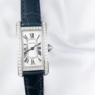Cartier - 【保証書付】カルティエ タンクアメリカン SM シルバー ダイヤ 腕時計