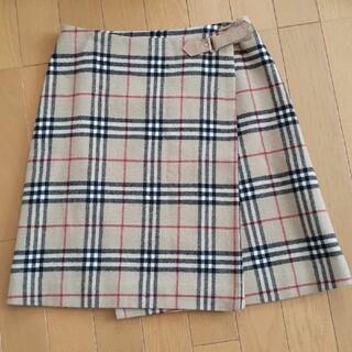 バーバリーブルーレーベル(BURBERRY BLUE LABEL)のバーバリーブルーレーベル 巻きスカート サイズ36(ミニスカート)