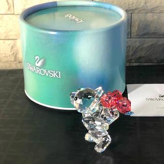 スワロフスキー(SWAROVSKI)のスワロフスキー  置物 クリスベア クマ バラの花束(置物)