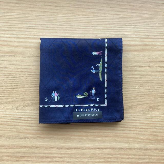 BURBERRY(バーバリー)のBurberryバーバリーハンカチ ゴルフ柄 刺繍 レディースのファッション小物(ハンカチ)の商品写真