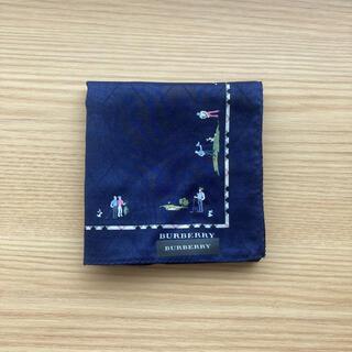 BURBERRY - Burberryバーバリーハンカチ ゴルフ柄 刺繍