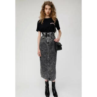 moussy - moussy GATHER HIGH WAIST CHEMICAL SK