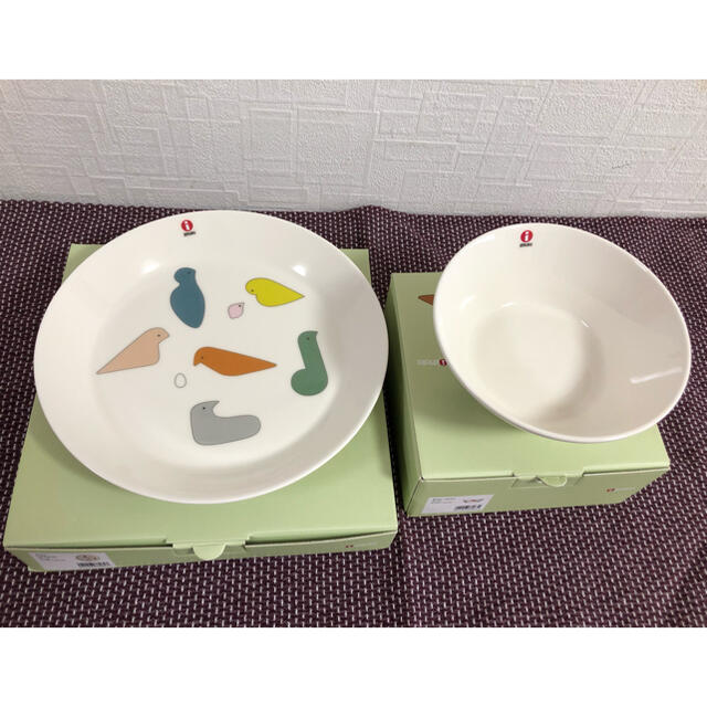iittala(イッタラ)のイッタラ×ミナペルホネン 15㎝ボウル、21㎝プレート インテリア/住まい/日用品のキッチン/食器(食器)の商品写真