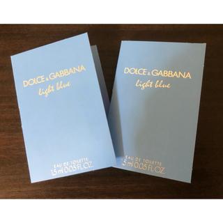 ドルチェアンドガッバーナ(DOLCE&GABBANA)のドルチェ&ガッバーナ ライトブルー オードトワレ 1.5ml  2点(ユニセックス)