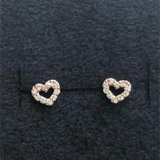 MICHEL KLEIN - ミッシェルクラン ピアス k10PG ピンクゴールド ダイヤモンド