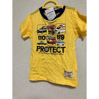 タカラトミー(Takara Tomy)のTシャツ 110cm 救急車 パトカー 救急車柄 イエロー(黄色)(Tシャツ/カットソー)