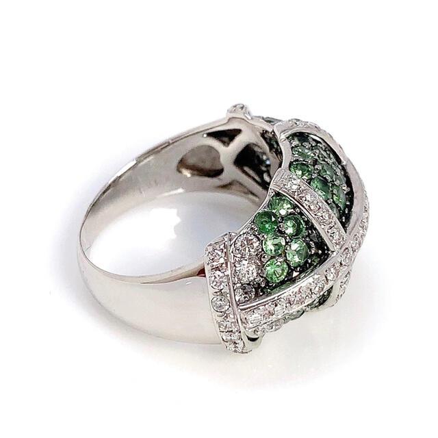 K18WG ガーネット 2.59 ダイヤモンド 0.49 リング 指輪 レディースのアクセサリー(リング(指輪))の商品写真