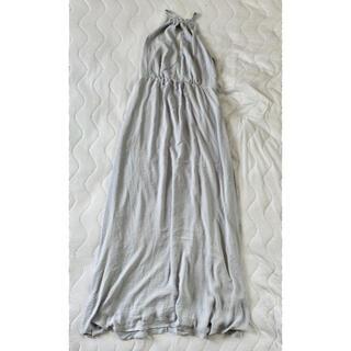 エイチアンドエム(H&M)の【新品タグ付/38】H&Mバックレースマキシワンピースドレス大きいサイズM026(ロングワンピース/マキシワンピース)