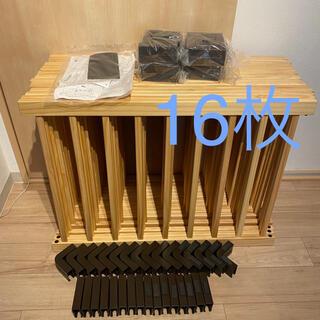 ニホンイクジ(日本育児)のタンスのゲン ベビーサークル 木製 柵 ジョイント式 16枚セット ナチュラル(ベビーサークル)