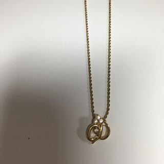 クリスチャンディオール(Christian Dior)の美品 ディオール ゴールド ネックレス ラインストーン(ネックレス)