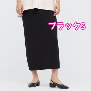 UNIQLO - UNIQLO × mame エアリズムコットンスリットスカート ブラック S