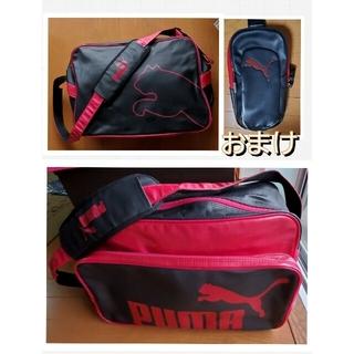 プーマ(PUMA)のPUMAのエナメルバッグ カラー(ピンク/黒)(バスケットボール)