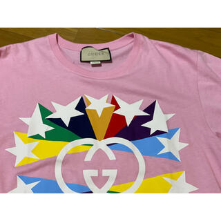 グッチ(Gucci)の●GUCCIグッチ今季スターGGロゴピンクTシャツメンズXS(Tシャツ/カットソー(半袖/袖なし))