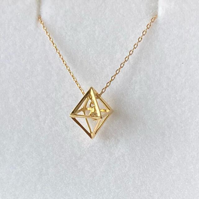 STAR JEWELRY(スタージュエリー)のスタージュエリー K18ダイヤモンドキューブネックレス レディースのアクセサリー(ネックレス)の商品写真