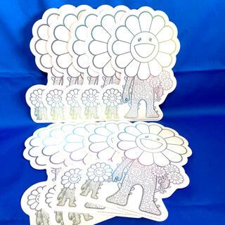 村上隆 : 《 お花の親子 フライヤー 10枚セット》ポストカード 白 ホワイト(その他)